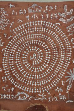 Mandana Wall Painting / Rajasthan by Grace's clicks, via Flickr #folk #art #India