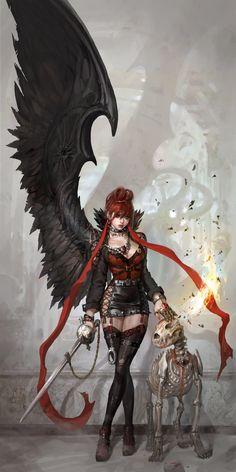 Devil and dog by inshoo1.deviantart.com on @DeviantArt