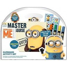 Despicable Me Minions Clipboard Activity Set Portable Writing Set, With Pens, Stickers, Activity Book.