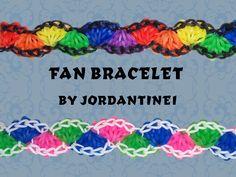 New Fan Bracelet - Rainbow Loom or Monster Tail or Finger Loom