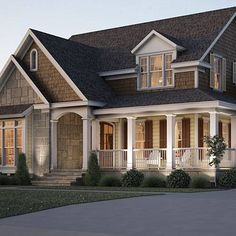 House with wraparound porch - love it!