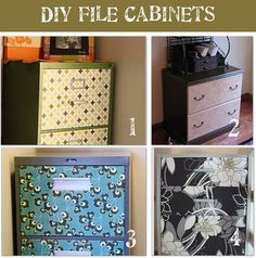 A way to deal with ugly but necessary filing cabinets.
