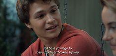 Image via We Heart It https://weheartit.com/entry/139522700 #augustus #love #movie #quote #thefaultinourstars #hazelgrace