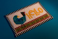 Week 16 - Travel (Fabric Post Card) by LenDog64, via Flickr Small Quilts, Mini Quilts, Travel Advice, Travel Guide, Fabric Postcards, Fabric Stamping, Mug Rugs, Plan Your Trip, Quilt Making