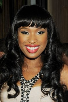 Black Hairstyle For Round Faces With Bangs ~ http://wowhairstyle.com/black-hairstyle-for-round-faces/