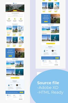 Travel Me is a email marketing template allow you to promote the travel agency or travel storeMultipurpose templatesResponsive templatesMajor browser Email Templates, Newsletter Templates, Business Travel, Business Design, Travel Store, Web Design Software, Email Client, Email Design, Travel Agency
