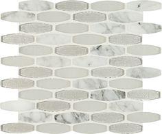 Mosaic Tile - Ellia Blanco - 8mm / Pattern / Mixed