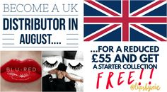 Such an exciting special running the entire month of August for potential UK Distributors! The regular sign up fee of £85 has been reduced to just £55 PLUS you will receive a FREE Blu-Red Starter Collection! If you are in the United Kingdom and LOVE makeup and skincare, being a SeneGence/LipSense distributor is fun and rewarding. Since the business is so new in the UK, you also have the exciting opportunity to be one of the first distributors in your area.