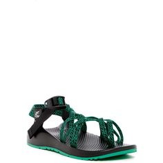 Chaco ZX2 Traverse Sandal ($80) ❤ liked on Polyvore featuring shoes, sandals, leafy gree, toe ring sandals, toe loop sandals, strappy sandals, strap sandals and criss cross shoes