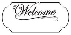Welcome Santa Plaque Stencil
