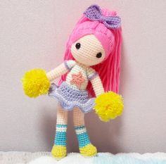 Etsy の Emilia Amigurumi Doll Cute Crochet, Crochet For Kids, Crochet Crafts, Crochet Baby, Crochet Projects, Knit Crochet, Amigurumi Patterns, Amigurumi Doll, Doll Patterns