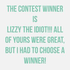 Congrats Lizzy!