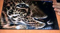 Leopard Scratchboard Speed Drawing
