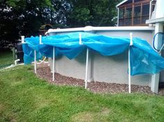 Solar Cover Holder We Used 1 Amp 1 2 Inch Pvc Cut 3 Pieces