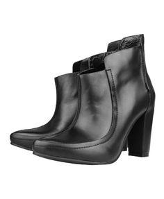 Black Chunky Heeled Boots