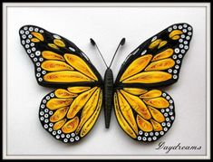 Quilling Archives - Crafts All Over Quilling Butterfly, Arte Quilling, Paper Quilling Cards, Paper Quilling Patterns, Origami And Quilling, Quilled Paper Art, Quilling Paper Craft, Monarch Butterfly, Paper Crafts