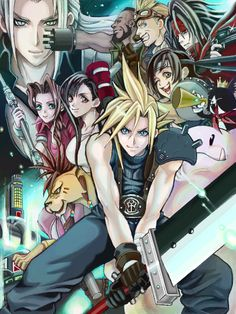 Final Fantasy VII group montage