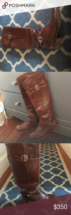 Tory Burch riding boots Brown leather Tory Burch riding boots. Tory Burch Shoes