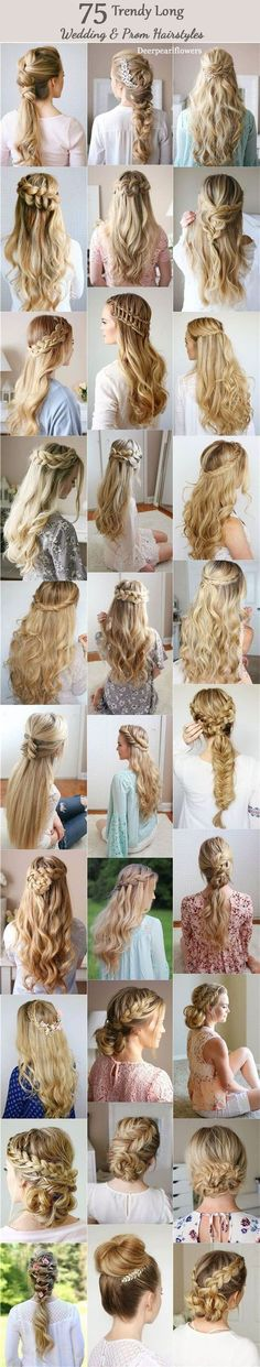 Long Wedding & Prom Hairstyles from Missysueblog / http://www.deerpearlflowers.com/wedding-prom-hairstyles-for-long-hair/