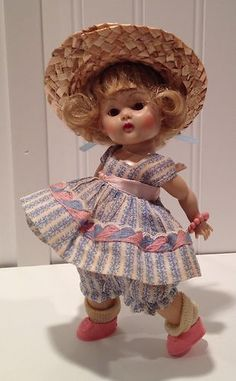 Vintage Vogue Ginny Doll, Painted Lash Strung doll