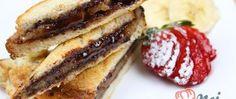 Recept Nutelové toasty s banánovým překvapením uvnitř French Toast, Pancakes, Sandwiches, Nutella, Brunch, Food And Drink, Tasty, Treats, Snacks