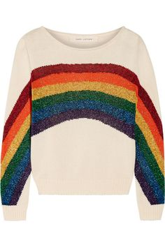 Marc Jacobs - Metallic Intarsia Cotton Sweater - Ivory - x large