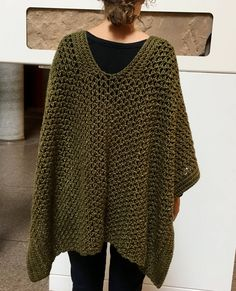 Crochet Ruana Pattern: Really-Caught-My-Eye Ruana Crochet pattern by KnotYourselfOut Poncho Au Crochet, Boho Crochet, Pull Crochet, Crochet Poncho Patterns, Crochet Wrap Pattern, Heartland, Shawls And Wraps, Crochet Clothes, Just In Case