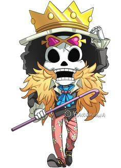 One Piece: Brook Chibi by Kanokawa