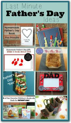 8 last minute Father's Day ideas - cute ideas for your kids to make their dad or Grandad
