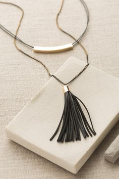 My Own Way Necklace in Black | ShopDressUp.com