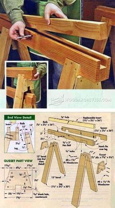 Replaceable Inserts Save Sawhorses - Workshop Solutions Plans, Tips and Tricks | WoodArchivist.com