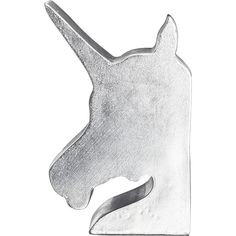 CB2 Unicorn Bookend ($25) ❤ liked on Polyvore featuring home, home decor, small item storage, decor, fillers, accessories, bookends, whimsical home decor, cb2 and unicorn home decor