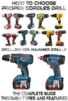 You bought your new cordless drill, unpacked it and tried to make the hole in your wall and it won't even start to drill in? Don't buy a cordless drill before you learn all about types and features of cordless drills! This is the only complete cordless drill guide made by Handyman tips!