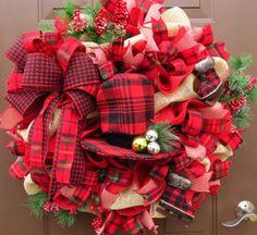Christmas Wreath Christmas Burlap Wreath by FestivalofWreaths