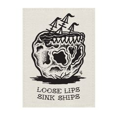 Loose Lips Back Patch
