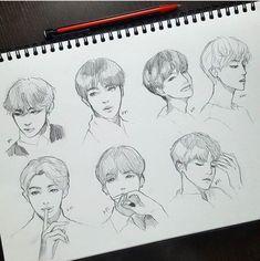 This is so amazing bts 방탄소년단 desen persoane, desene, artă și Kpop Drawings, Art Drawings Sketches, Fanart Kpop, Jungkook Fanart, Jimin, Fan Art, Drawing Reference, Bts Wallpaper, Art Tutorials