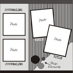 scrapbook layout - simple and easy to do.