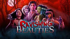 Ravishing Beauties | High 5 Games: Join a fearless monster hunter as he attempts to make the world a safer place by ridding it of the Ravishing Beauties. A vampiress, a mummy, a werewolf, and a frankenwoman are on the loose, and must be stopped. These monsters are as dangerous and depraved as they come - don't let their looks fool you, or it could cost you your life... 3 by 5 reels. 9 and 40 paylines. Stacked Symbols, Stacked Wilds, and the Collect-2-Wild Bonus.
