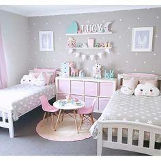 More Decoration : http://www.kadinika.com Quartinho lindo de menina fugindo do óbvio! Olha como um quarto todo cinza apenas com detalhes em rosa tiffany e branco pode ficar super feminino??!!! Para as mamis que não curtem quartinhos cor de rosa fica a sugestão! São as cores do quarto da minha baby! Quem curtiu?
