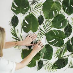 Тренды: Листья тропических растений в декоре