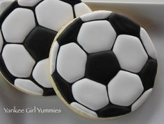 Soccer Ball cookies – yankeegirlyummies