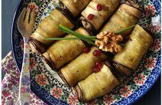 Badrijani nigvzi (roulés d'aubergine aux noix)