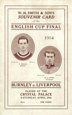 1914 FA Cup Final Souvenir Card
