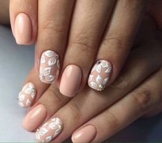 Beige and white nails Festive nails with a picture flower nail art Holiday nails by shellac Nails ideas with flowers Nails with rhinestones ideas Painted nails Spring nail art Beige Nail Art, Beige Nails, Shellac Nails, Nail Polish, Glitter Nails, Spring Nail Art, Spring Nails, Nail Art Laque, Ongles Beiges