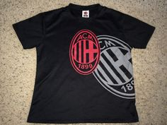 Sale AC MILAN Soccer Jersey ITALY Football tee shirt by casualisme