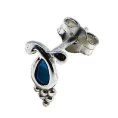 Bijoux pour filles - Boucles d'oreilles bleues en Argent fin: ShalinCraft: Amazon.fr: Bijoux