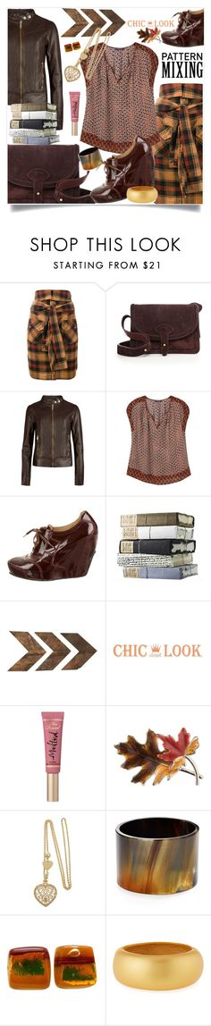 """""""Weekend"""" by hani-bgd ❤ liked on Polyvore featuring Faith Connexion, Maiyet, Ted Baker, Violeta by Mango, Dries Van Noten, WALL, Too Faced Cosmetics, Anne Klein, Robert Lee Morris and Kenneth Jay Lane"""