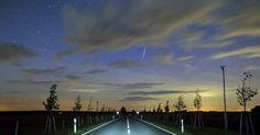 20150908 - Meteoro atravessa o céu em Lietzen, na Alemanha PICTURE: Patrick Pleul/EFE