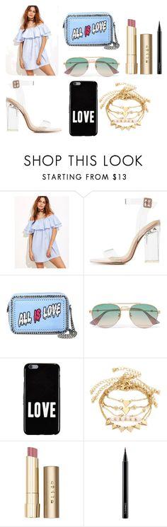 """11"" by kfhfkkb on Polyvore featuring мода, Charlotte Russe, STELLA McCARTNEY, Gucci, Givenchy, Stila и MAC Cosmetics"