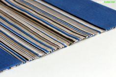 Einfache Schutzumschläge aus Stoff nähen, statt jedes Jahr teure Hüllen aus Plastik kaufen.